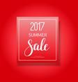 2017 summer sale banner vector image