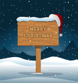 Merry Christmas Wooden Board vector image