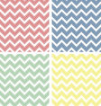 Pastel colored chevron pattern vector image