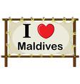 Maldives vector image