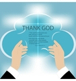 Hands to God vector image