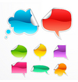 speech icons vector image vector image