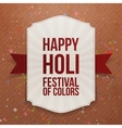 Holi indian Festival colorful Banner vector image
