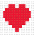 Heart Shape created from building toy bricks vector image vector image