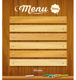 Menu wood board with pastel color design vector image