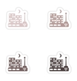Set of paper sticker on white background Wi-Fi vector image