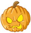 angry pumpkin vector image