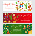 cinco de mayo celebration in mexico banner set vector image