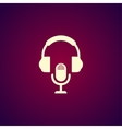 earphone and microphone icon vector image