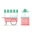 Ice cream colorful cart vector image