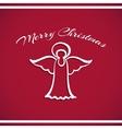 New Year Badge Angel vector image
