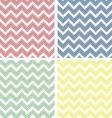 Pastel colored chevron pattern vector image