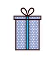 purple gift box present ribbon vector image