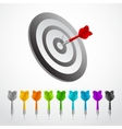 Set of darts color game concept vector image