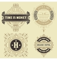 Set of vintage logo templates Hotel Restaurant vector image