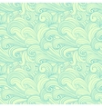 Green hand-drawn pattern waves background vector image