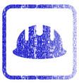 builder hardhat framed textured icon vector image