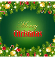 Retro Card With Christmas Garland vector image