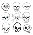 Hand Drawn Skull Set vector image