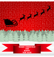 Santa Claus riding on a reindeer vector image