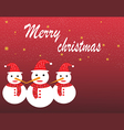 Christmas landscape and snow man design vector image