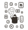 Kitchen Drinking Tea Teapot and Cooking Art Frames vector image vector image