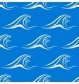 Cartoon white ocean waves seamless pattern