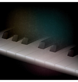 abstract grunge music dark background with piano vector image