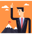Business leader near the mountains vector image