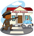 Police station vector image vector image