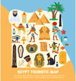 Egypt Touristic Map vector image