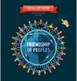 Friendship of peoples logo design template vector image