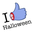 Halloween LikeThumbs Up symbol vector image