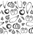 hand drawn doodle food seamless pattern vector image