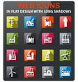 industrial building icon set vector image