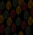 Seamless Cute Plant Patterend Background vector image