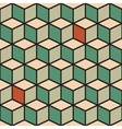 Seamless pattern with cubes in retro color vector image