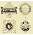 Set of vintage logo templates Hotel Restaurant vector image