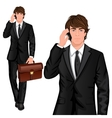 Young businessman standing vector image