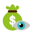 eye view security system icon vector image