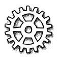 cartoon image of gear icon flat vector image