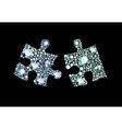 Diamond Puzzle Pieces vector image vector image