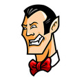 Dracula Head vector image
