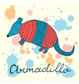 Cute armadillo vector image
