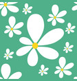 daisy seamless pattern vector image