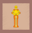 flat shading style icon kids child soldier knight vector image