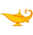 Golden lamp on white background vector image