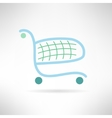 Simple shopping cart in modern flat design Trolley vector image