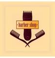 Vintage Barber Shop Label vector image