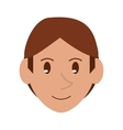 young face guy brown hair smile vector image